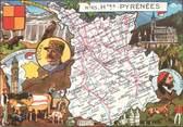 """65 Haute PyrÉnÉe / CPSM FRANCE 65 """"Hautes Pyrénées"""" / CARTE GEOGRAPHIQUE"""
