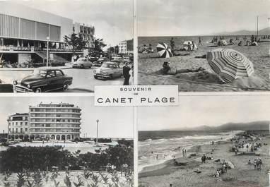 """/ CPSM FRANCE 66 """"Souvenir de Canet Plage"""""""