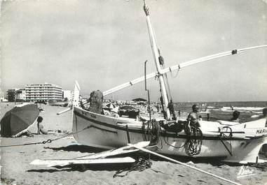"""/ CPSM FRANCE 66 """"Canet Plage, la plage, barque Catalane"""""""