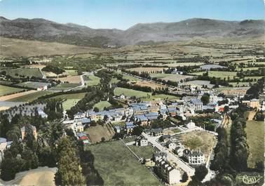 """/ CPSM FRANCE 66 """"Bourg Madame, vue panoramique et la vallée"""""""