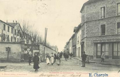 """/ CPA FRANCE 38 """"Saint Siméon de Bressieux, rue principale"""""""
