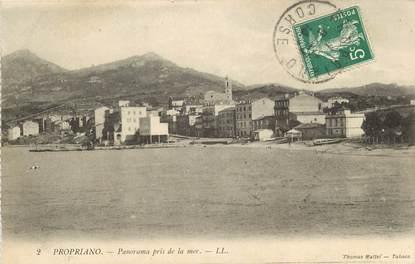 """CPA FRANCE 20 """"Corse, Propriano, panorama pris de la mer"""""""