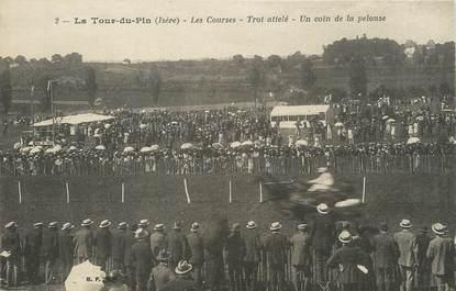 """/ CPA FRANCE 38 """"La Tour du Pin, les courses, trot attelé"""" / CHEVAL"""