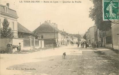 """/ CPA FRANCE 38 """"La Tour du Pin, route de Lyon"""""""