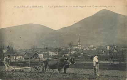 """/ CPA FRANCE 38 """"Saint Martin d'Uriage, vue générale et la montagne des quatre Seigneurs"""""""