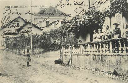 "/ CPA FRANCE 38 ""Saint Martin d'uriage, entrée du village"""