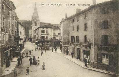 "CPA FRANCE 07 ""La Louvesc, la Place Principale"""