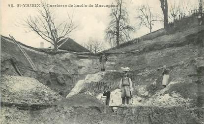 """CPA FRANCE 87 """"Saint Yrieix, les carrières de kaolin de Marcognac"""""""