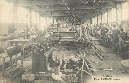 "/ CPA FRANCE 38 ""Vizille, usine J . Grand Jeune"""