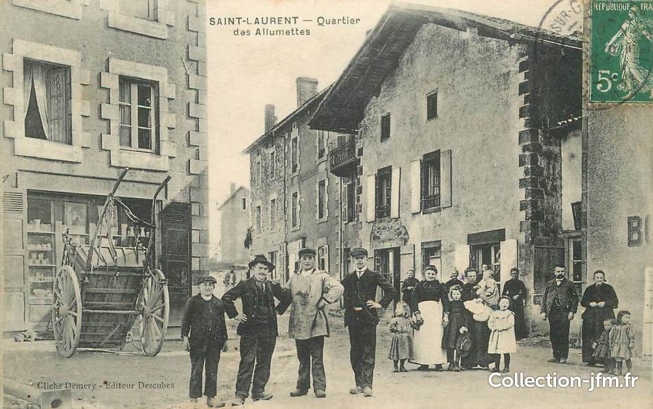 Cpa france 87 saint laurent sur gorre le quartier des for 87 haute vienne france
