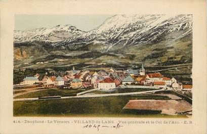 """CPA FRANCE 38 """"Villard de Lans, vue générale et le Col de l'Arc"""""""