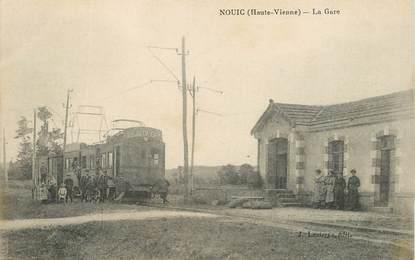 """CPA FRANCE 87 """"Nouic, la gare"""" / TRAIN"""