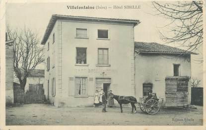 "/ CPA FRANCE 38 ""Villefontaine, hôtel Sibelle"""