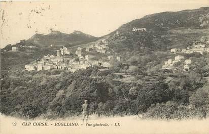 """CPA FRANCE 20 """"Corse, Rogliano, vue générale, Ed. L.L."""""""
