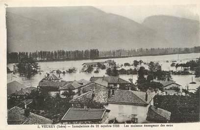 """/ CPA FRANCE 38 """"Veurey, inondations du 21 octobre 1928"""""""