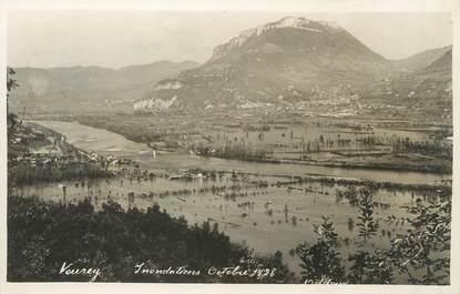 """/ CPSM FRANCE 38 """"Veurey, inondations du 21 octobre 1928"""""""
