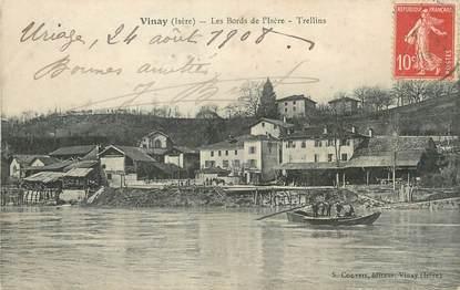 """/ CPA FRANCE 38 """"Vinay, les bords de l'Isère, Trellins"""""""