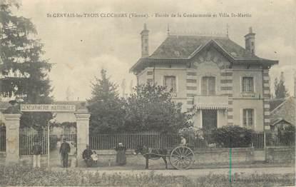 """CPA FRANCE 86 """"Saint Gervais les trois clochers, entrée de la gendarmerie"""""""