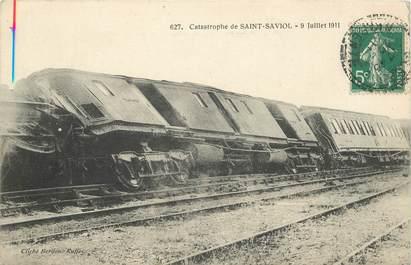 """CPA FRANCE 86 """"Catastrophe de Chemin de fer de Saint Saviol, 1911"""""""