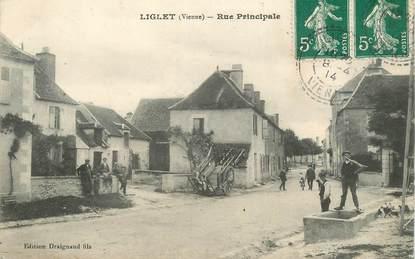 "CPA FRANCE 86 ""Liglet, rue principale"""
