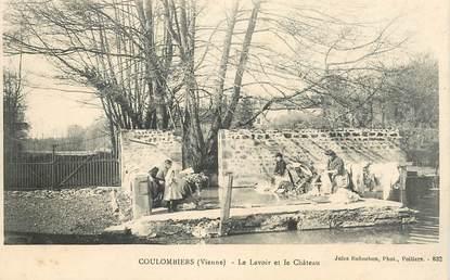 """CPA FRANCE 86 """"Coulombiers, le lavoir et le chateau"""""""