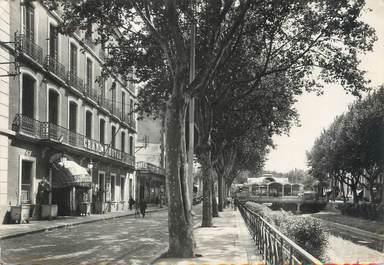 """/ CPSM FRANCE 66 """" Perpignan, le grand hôtel et le Palmarium"""""""