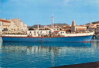 """/ CPSM FRANCE 66 """"Port Vendres, navire Ariel"""" / BATEAU"""