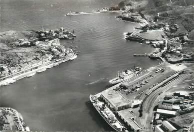 """/ CPSM FRANCE 66 """"Port Vendres, vue aérienne sur le port"""""""