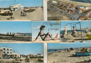 """/ CPSM FRANCE 66 """"Saint Cyprien plage"""""""