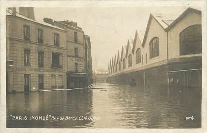 "CPA FRANCE 75012 ""Paris, Inondations 1910, rue de Bercy"""