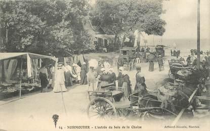 """CPA FRANCE 85 """"Noirmoutier, l'entrée du bois de la Chaize"""""""
