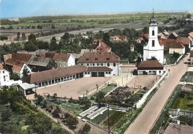 """/ CPSM FRANCE 67 """"Bindernheim, l'église et l'école"""""""
