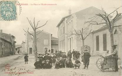 """CPA FRANCE 26 """"Malissard, la Place et l'Ecole Communale"""""""