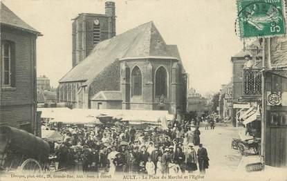 """CPA FRANCE 80 """"Ault Onival, la Place du marché et l'Eglise"""""""