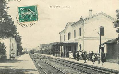 """CPA FRANCE 26   """"Donzère, la Gare"""" / TRAIN"""