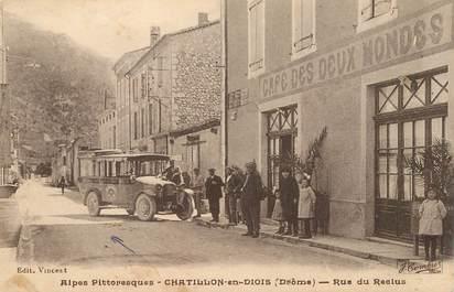 """CPA  FRANCE 26   """"Chatillon en Diois, rue du Reclus"""" / AUTOBUS"""