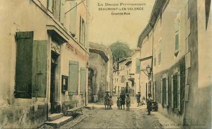 """CPA  FRANCE 26  """"'Beaumont les Valence, Grande rue"""""""