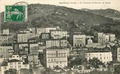 "CPA FRANCE 20 ""Corse, Sartène, la traverse Saint Bastien de Borgo"""