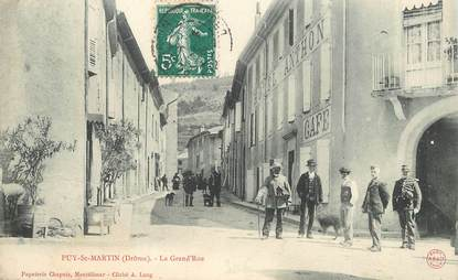 "CPA  FRANCE 26  ""'Puy Saint Martin, la Grand'rue"""