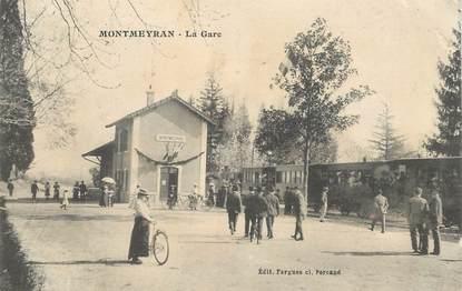 """CPA  FRANCE 26  """"'Montmeyran, la gare"""" / TRAIN"""