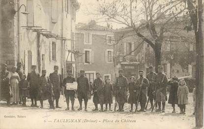 "CPA  FRANCE 26  ""'Taulignan, ,Place du Chateau"""
