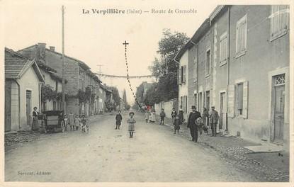 "/ CPA FRANCE 38 ""La Verpillère, route de Grenoble"""