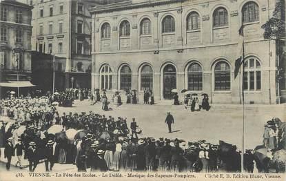"""/ CPA FRANCE 38 """"Vienne, la fête des écoles"""""""