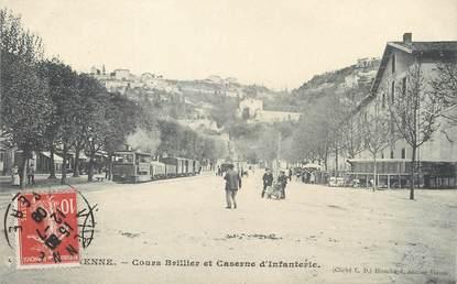 """/ CPA FRANCE 38 """"Vienne, cours Brillier et caserne d'infanterie"""""""