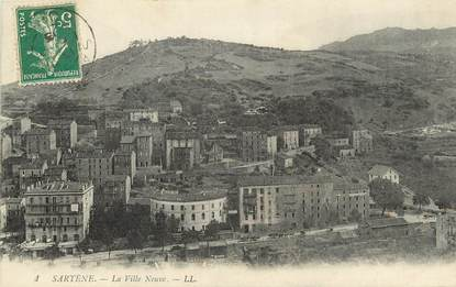 "CPA FRANCE 20 ""Corse, Sartène, la ville neuve, Ed. L.L."""
