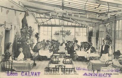 """/ CPA FRANCE 74 """"Annecy café restaurant de l'hôtel de ville"""""""