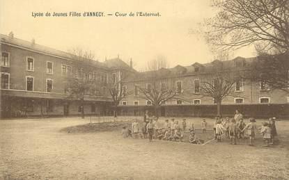 """/ CPA FRANCE 74 """"Lycée de jeunes filles d'Annecy, cour de l'Externat"""""""