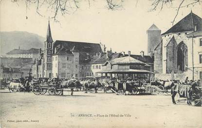 """/ CPA FRANCE 74 """"Annecy, place de l'hôtel de ville"""""""