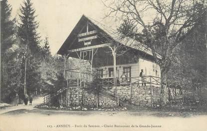 "/ CPA FRANCE 74 ""Annecy, forêt du Semnoz, chalet restaurant de la Grande Jeanne"""