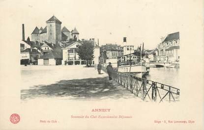 """/ CPA FRANCE 74 """"Annecy, souvenir du club excursionniste Dijonnais"""""""